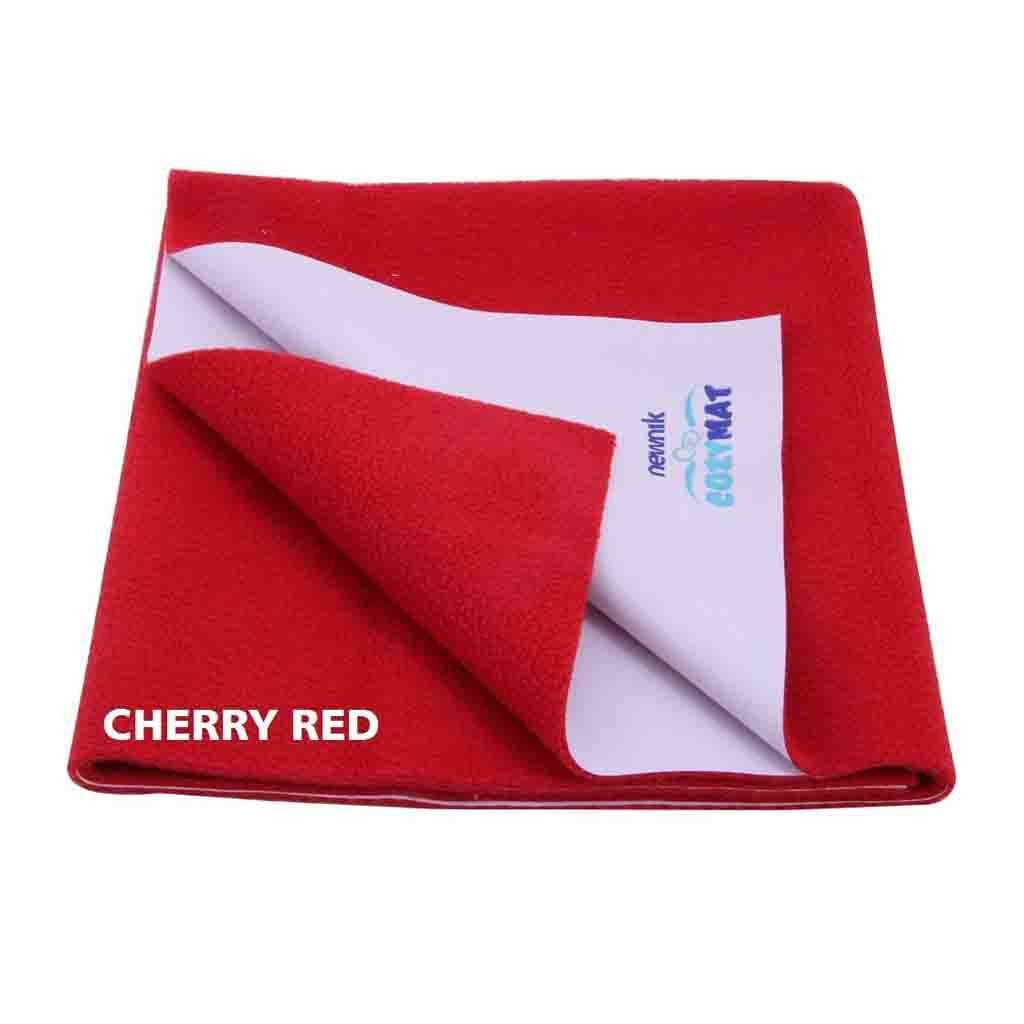 Newnik Cozymat Reusable Absorbent Sheets/Underpads - (Size: 70cm X 100cm) Cherry Red, M