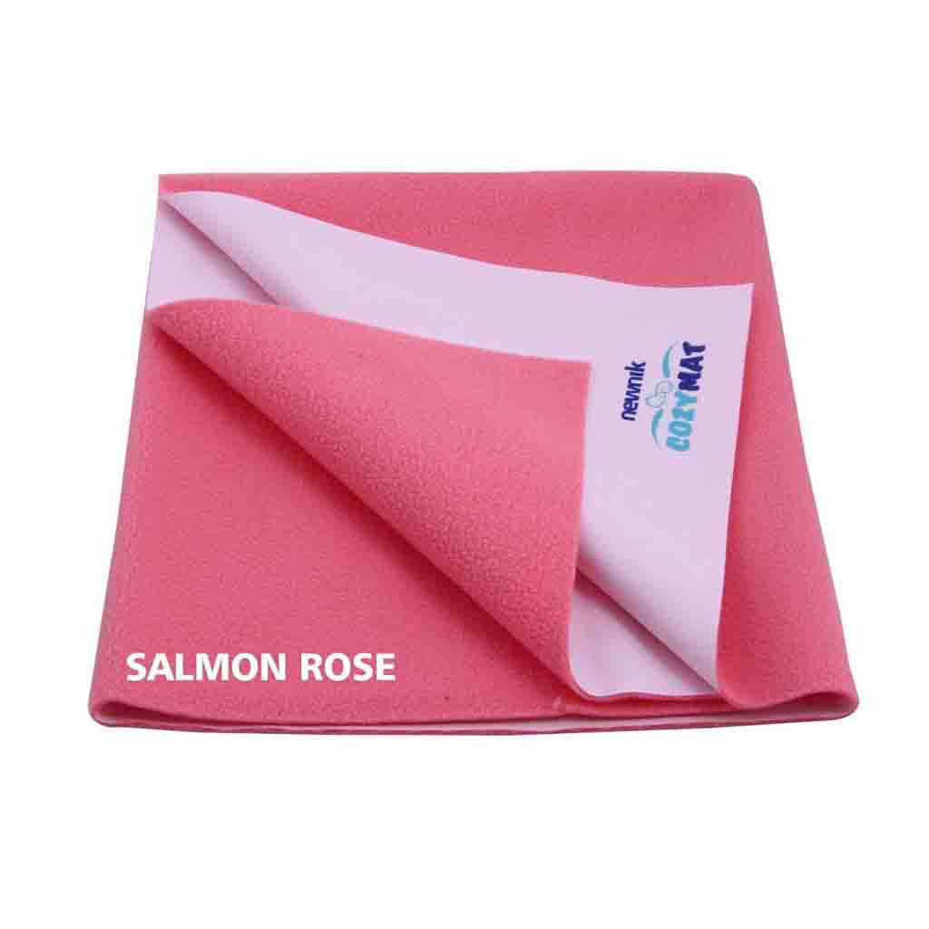 Newnik Reusable Absorbent Sheets/Underpads - (Size: 70cm X 100cm) Salmon Rose, M