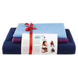 Newnik Reusable Absorbent Sheets/Underpads Combo(1 Large, 2 Small) Navy Blue, Plum, Blue