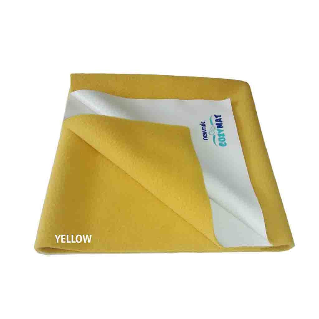 Newnik Reusable Absorbent Sheets/Underpads - (Size: 70cm X 50cm) Yellow, S