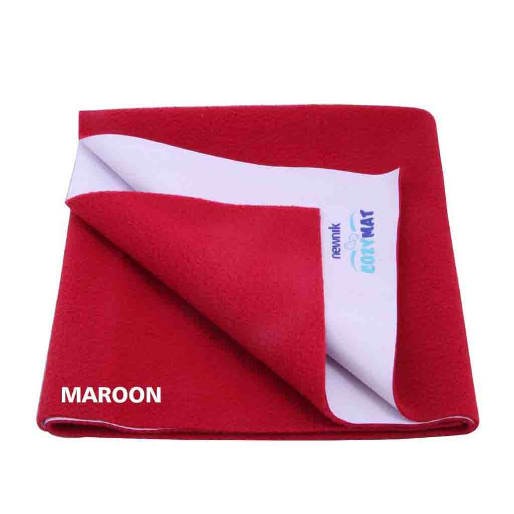 Newnik Reusable Absorbent Sheets/Underpads - Size: 140cm X 100cm)Maroon, L