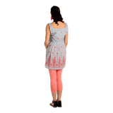 Radiation Safe-House of Napius Sleeveless Maternity Embroidered Tunic Pink