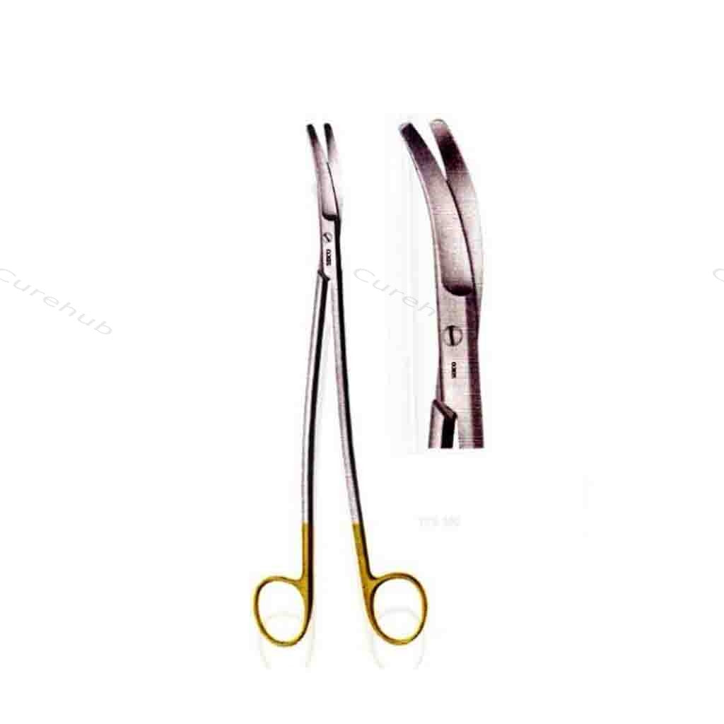 SISCO Hysterectomy Scissors Strongly Tc Tip Curved TCS551