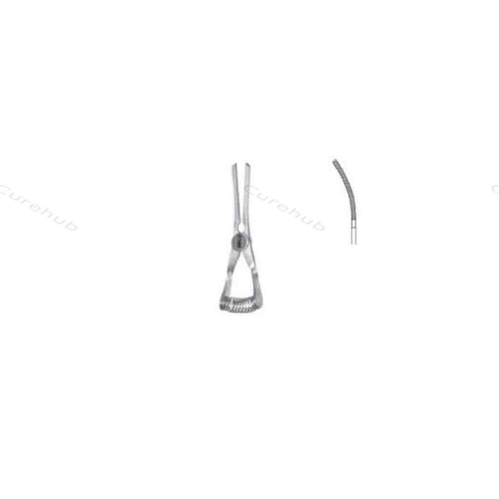SISCO Atraumatic Bulldog Clamps Soft Closiong Pressure For Veins 35mm 1 3/8Inch Half Curved UBX35A