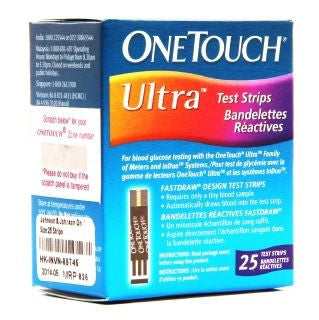 Johnson & Johnson - OneTouch Ultra Test Strips 25'S