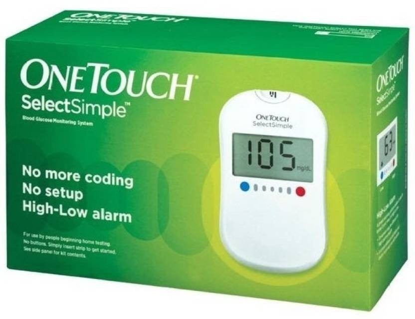 Johnson & Johnson - OneTouch Select Glucose Monitor with 50 Strips