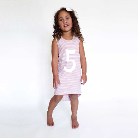 NUMBER SCOOP DRESS – Dusty Pink