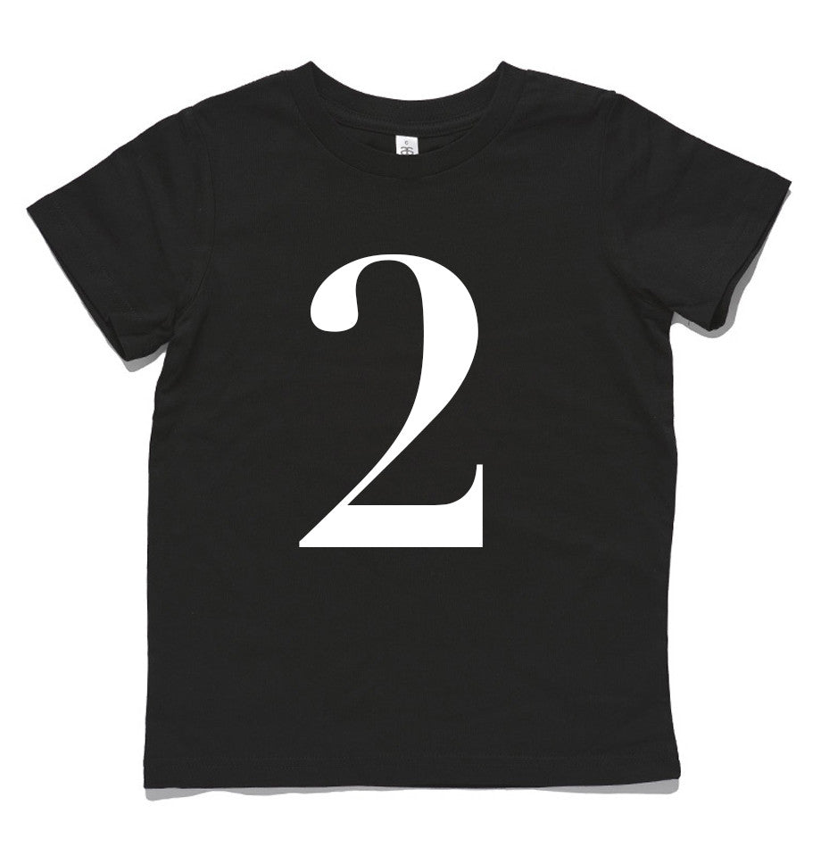 George Henry My Number 2 Tee Black