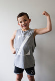 George Henry Big Kids Grey Monogrammed Tank