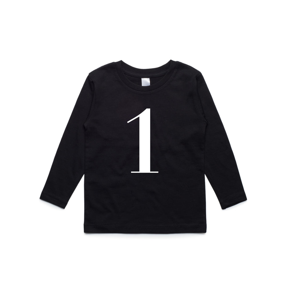 George Henry My Number 1 Black Long Sleeve Tee
