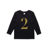 George Henry My Number 2 Black Long Sleeve Tee