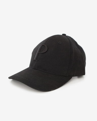 George Henry Adults Black Monogrammed Baseball Cap