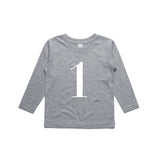 George Henry My Number 1 Grey Long Sleeve Tee