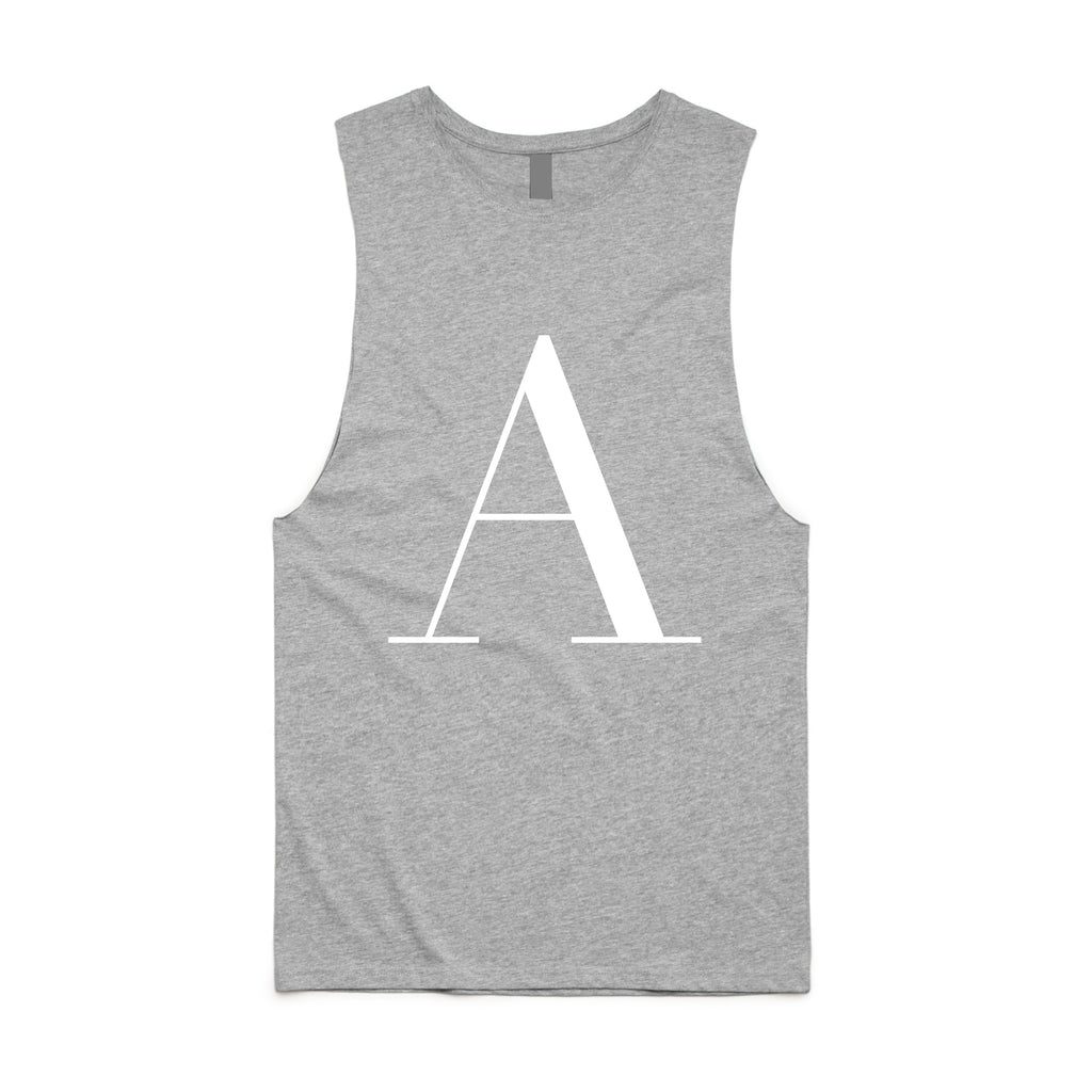 George Henry Little Kids Grey Monogrammed Tank