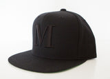 George Henry Youth Black Monogrammed Snapback Cap
