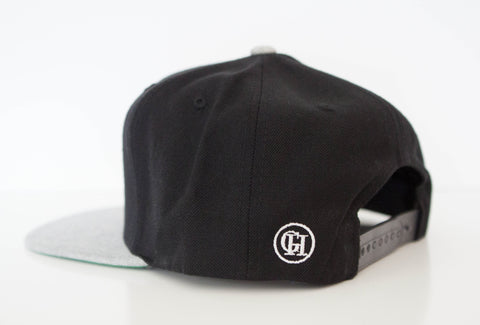 George Henry Youth Black/Grey Monogrammed Snapback Cap
