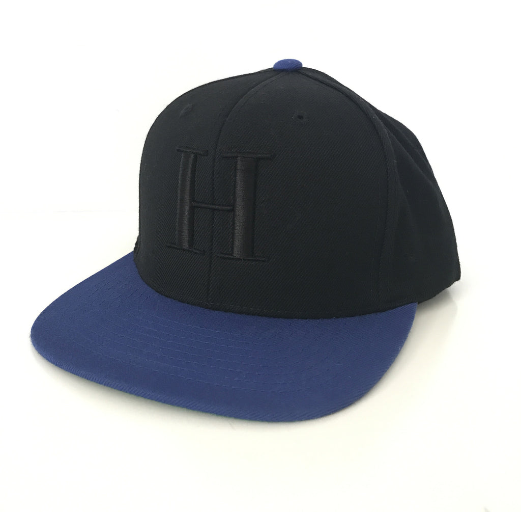 George Henry Youth Black/Blue Monogrammed Snapback Cap
