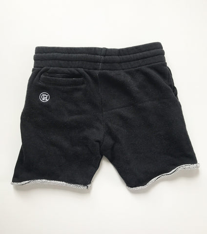 George Henry Black Kids Monogrammed Shorts