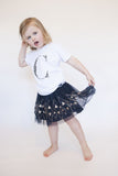George Henry Little Kids Leopard Print Monogrammed Tee White