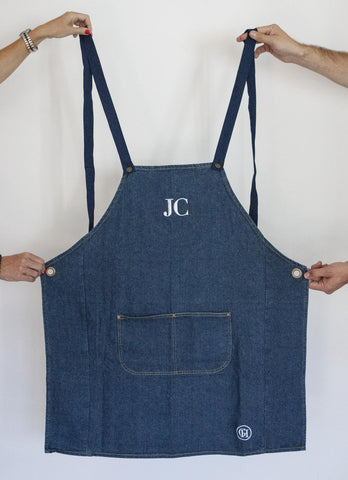 George Henry Monogrammed Apron (3 Colours)