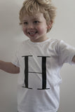 George Henry Little Kids White Monogrammed Tee