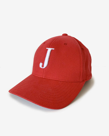George Henry Adults Red Monogrammed Baseball Cap