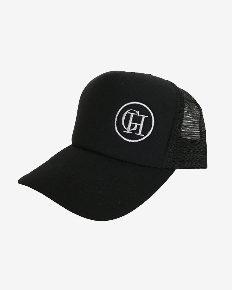 George Henry Adults Black Trucker Cap