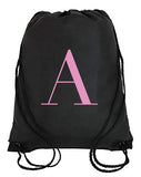 George Henry Monogrammed Swimming Bag Pink Letter