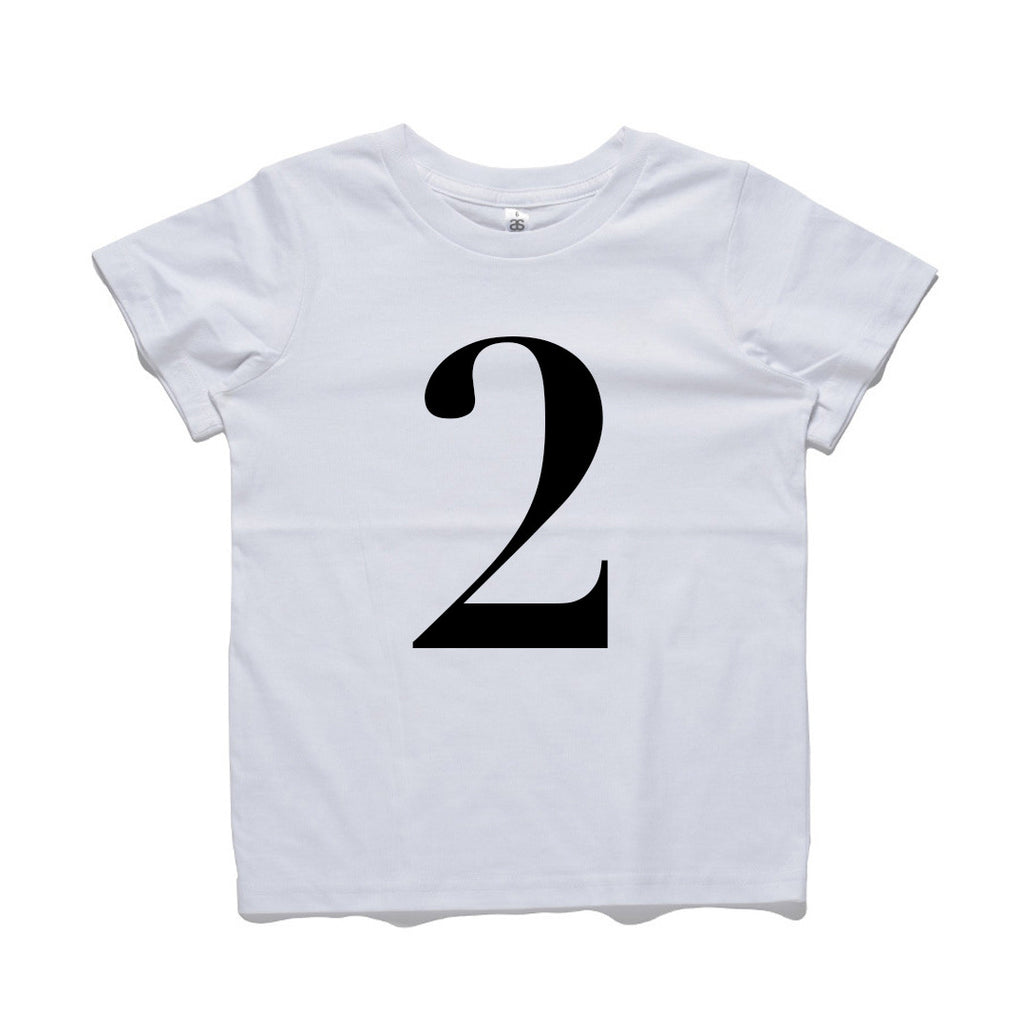 George Henry My Number 2 Tee White