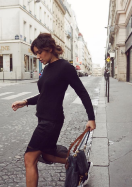 @troprouge keeping warm in #Paris in our cashmere sweater