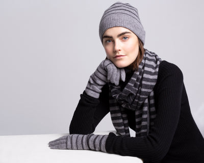 Blake Cashmere Striped beanie