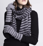 Blake Cashmere Striped Gloves