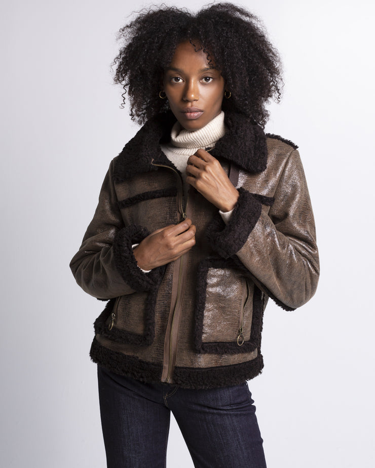 Olivia Faux Leather Jacket