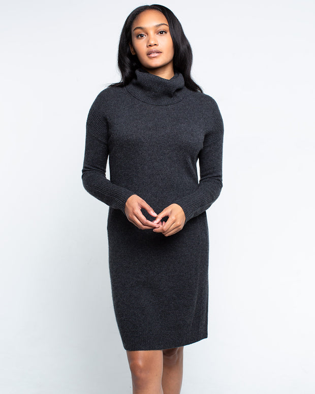 Theodora Cashmere Cowl Neck Dress