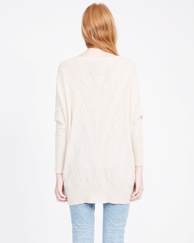 Natural sweater sustainable cashmere