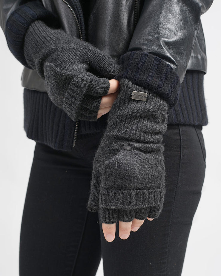 Lillian Cashmere Pop Top Mitten