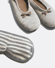 Cashmere Slippers & Eyemask Set