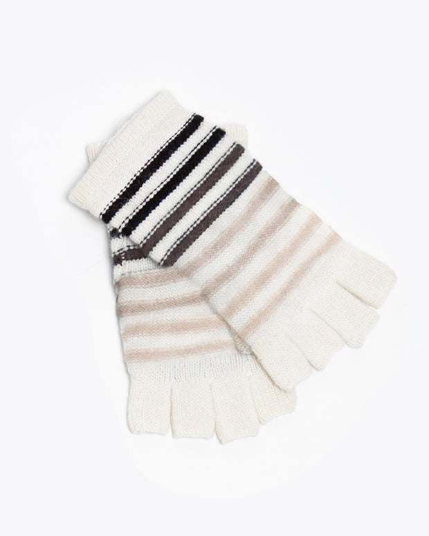 Patricia Cashmere Ombre Striped Hat & Glove Set