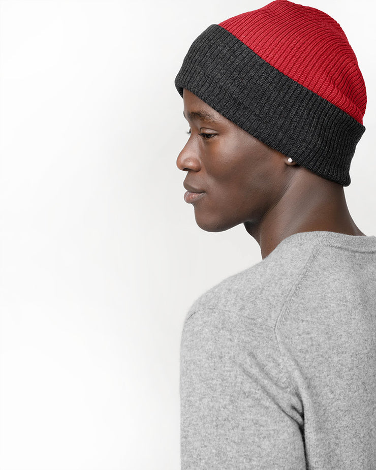 Men's Wool Rib Reversible Hat