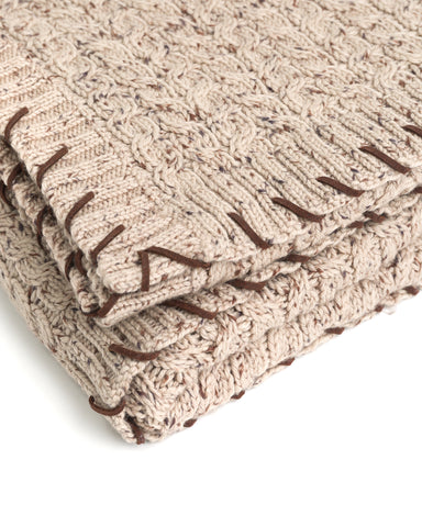 Heavy Cable Blanket with Whipstich