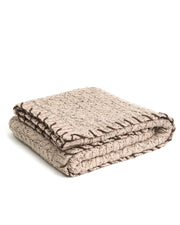 HOME - Heavy Cable Blanket with Whipstich