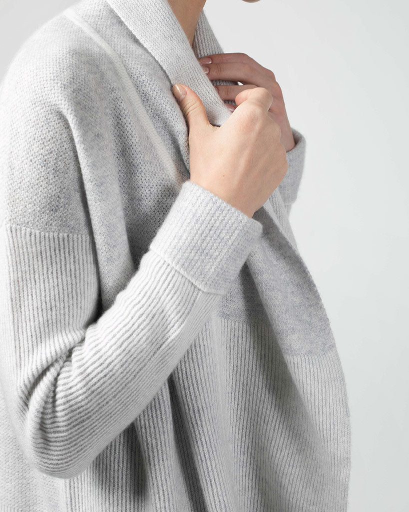 Cashmere Plaited Stitch Coatigan