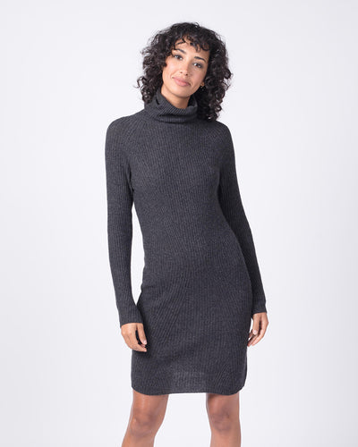 Directional Rib Turtleneck Dress