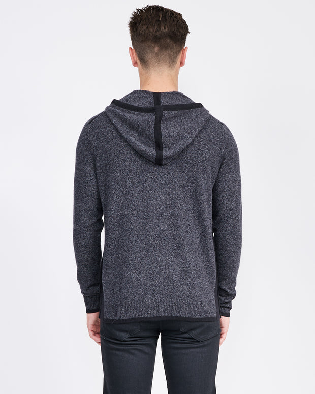 hooded cashmere jacket