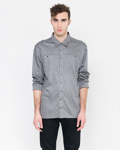 Franco Jersey Button Down