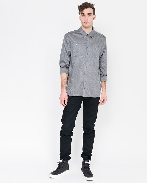 staple button down