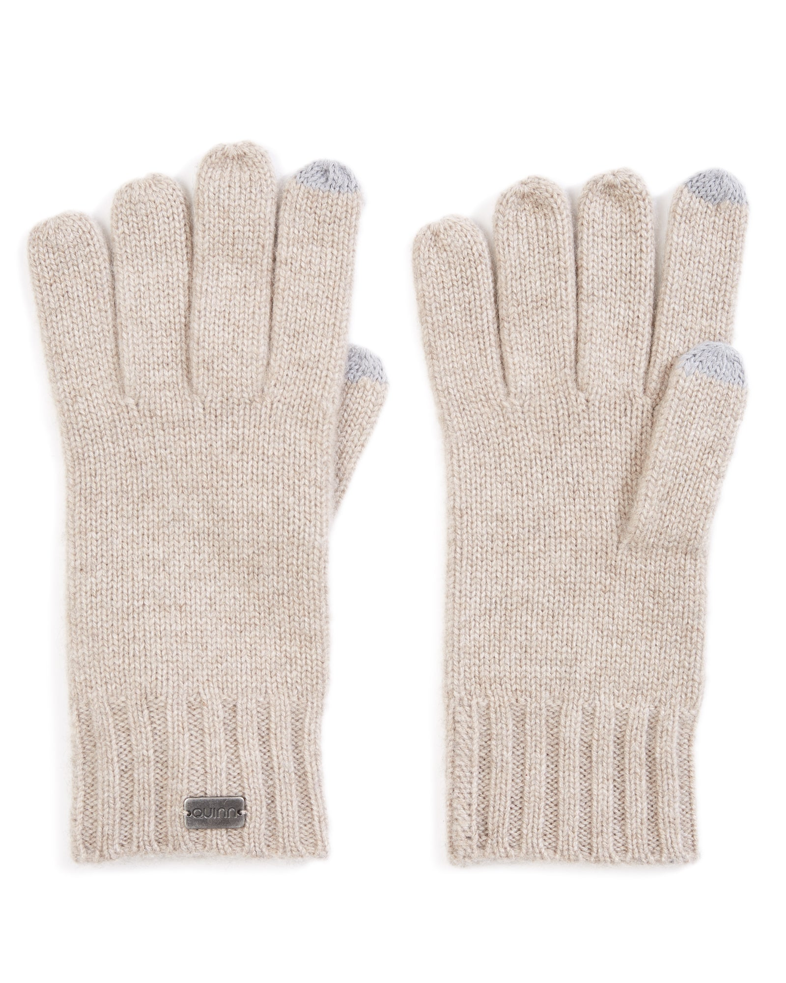 cashmere ribbed gloves