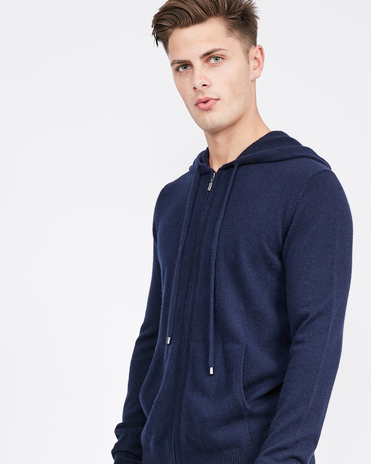 Personalized Men's Cashmere Zip Hoodie