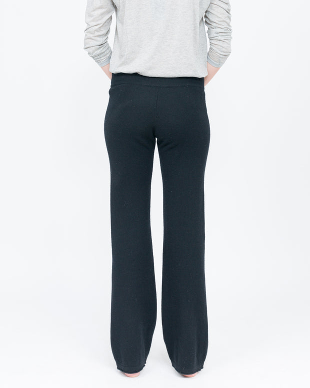 women's black cashmere pant