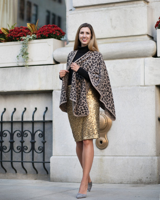 Leopard Printed Cashmere Wrap